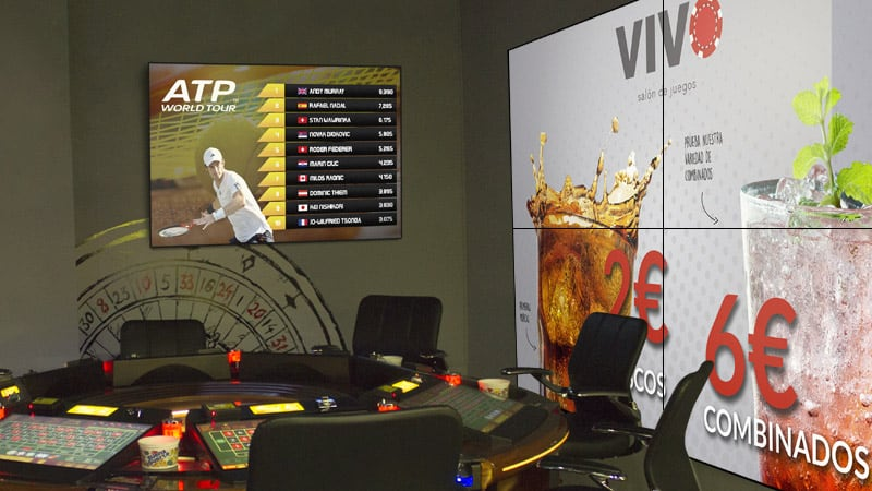 Carteleria Digital Salones de Juego y Sports Bar