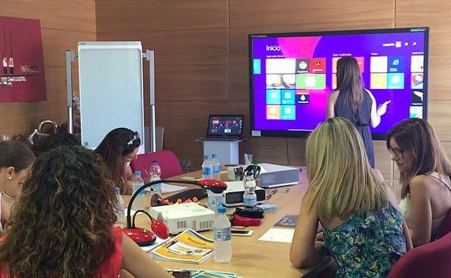 aula demo pantallas interactivas